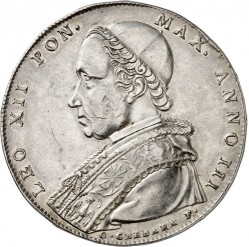Coin > 1 scudo, 1825-1826 - Papal States  - obverse