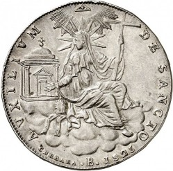 Coin > 1 scudo, 1825-1826 - Papal States  - reverse