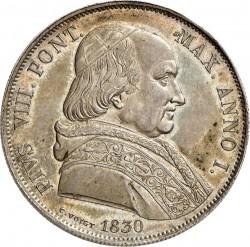 Монета > 1скудо, 1830 - Папська область  (Портрет на аверсі) - obverse