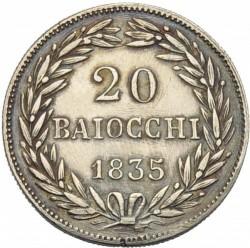 Монета > 20байокко, 1835-1846 - Папська область  - reverse