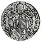 Монета > 5байокко, 1856-1864 - Папська область  - obverse
