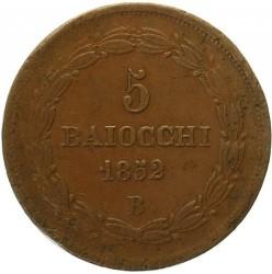 Монета > 5байокко, 1850-1854 - Папська область  - reverse