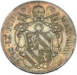 Монета > 5байокко, 1847-1855 - Папська область  - obverse