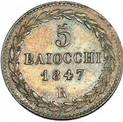 Монета > 5байокко, 1847-1855 - Папська область  - reverse