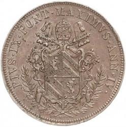 Монета > 5байокко, 1849-1850 - Папська область  - obverse