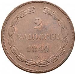 Монета > 2байокко, 1848-1849 - Папська область  - reverse