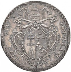 Монета > 1скудо, 1815-1818 - Папская область  - obverse