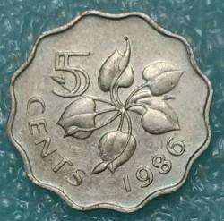 Moneta > 5centów, 1986 - Suazi  - reverse