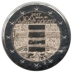 Moneda > 2euros, 2017 - Andorra  (100º Aniversario - Himno de Andorra) - reverse