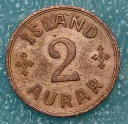Coin > 2aurar, 1926-1942 - Iceland  - reverse