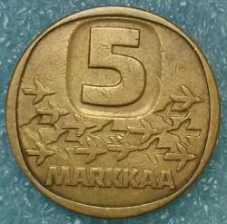 Moneta > 5markės, 1979-1993 - Suomija  - reverse