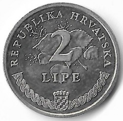 Монета > 2липа, 1994-2018 - Хърватия  - obverse