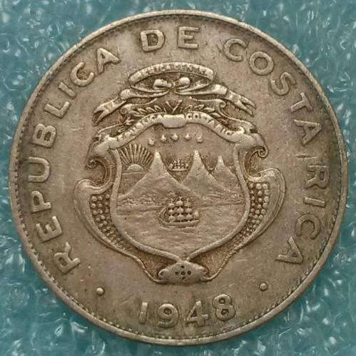 Coin 25 Céntimos 1937 1948 Costa Rica Obverse