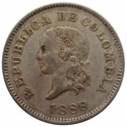 Moneda > 5centavos, 1886-1888 - Colòmbia  - obverse