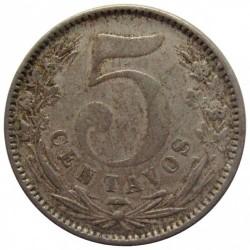 Moneda > 5centavos, 1886-1888 - Colòmbia  - reverse