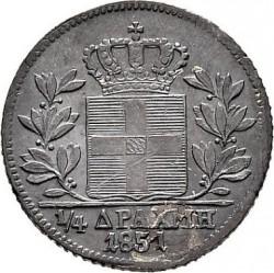 錢幣 > ¼德拉克馬, 1851-1855 - 希臘  - reverse
