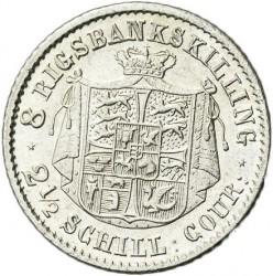 Moneta > 8rigsbankskilingai, 1843 - Danija  - reverse