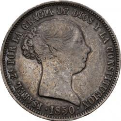 سکه > 20رئال, 1850 - اسپانیا  (Shield w/o columns) - obverse