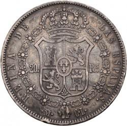 سکه > 20رئال, 1850 - اسپانیا  (Shield w/o columns) - reverse