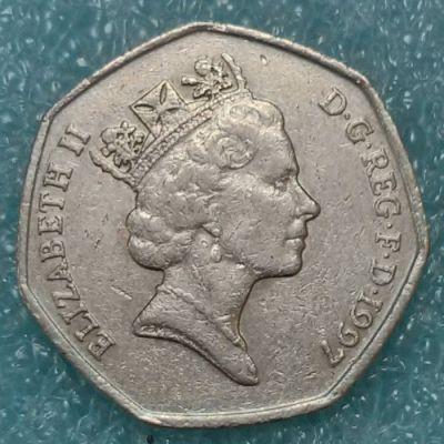 50 Pence 1997 Vereinigtes Königreich Münzen Wert Ucoinnet