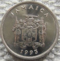 Mynt > 5cents, 1990-1993 - Jamaica  - reverse