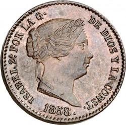 سکه > 10سنتیمو, 1854-1864 - اسپانیا  - obverse