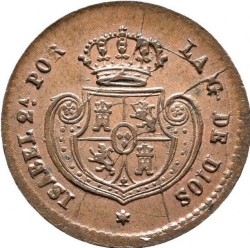سکه > 1/20رئال, 1852-1853 - اسپانیا  - obverse