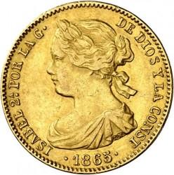 Монета > 10ескудо, 1865-1868 - Испания  - obverse
