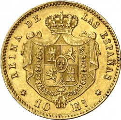 Монета > 10ескудо, 1865-1868 - Испания  - reverse