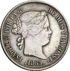 Moneta > 10centymów, 1865-1868 - Hiszpania  - obverse