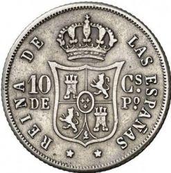 Moneta > 10centymów, 1865-1868 - Hiszpania  - reverse