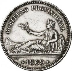 Монета > 1песета, 1869 - Испания  (GOBIERNO PROVISIONAL) - obverse