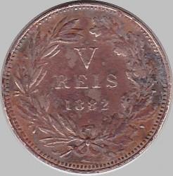 Монета > 5рейса, 1882-1886 - Португалия  - reverse
