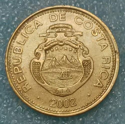 Coin 50 Colones 2002 Costa Rica Obverse
