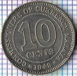 Münze > 10Cent, 1943-1945 - Malaya  - reverse