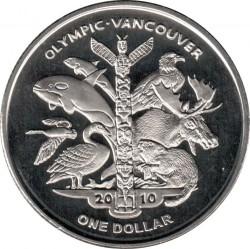 Moneta > 1dollaro, 2009 - Sierra Leone  (XXI Giochi olimpici invernali, Vancouver 2010 - Animali) - reverse