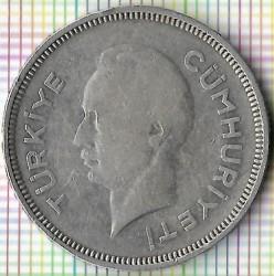 Moneta > 1lira, 1940-1941 - Turkija  - obverse