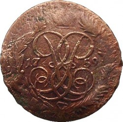 Pièce > 2kopeks, 1759 - Russie  (Nominal en haut) - obverse