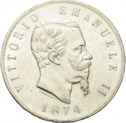 Moneta > 5liros, 1861-1878 - Italija  - obverse
