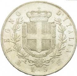 Moneta > 5liros, 1861-1878 - Italija  - reverse