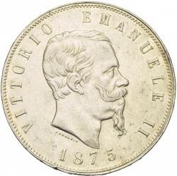 Монета > 5лир, 1861-1878 - Италия  - obverse