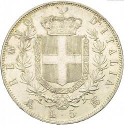 Монета > 5лир, 1861-1878 - Италия  - reverse