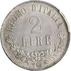 Moneta > 2liros, 1863 - Italija  (Nominalas reverse) - reverse