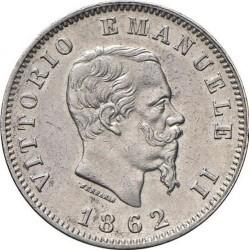 Moneta > 1lira, 1861-1862 - Italija  - obverse