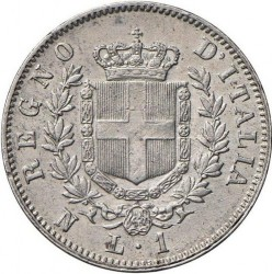 Moneta > 1lira, 1861-1862 - Italija  - reverse