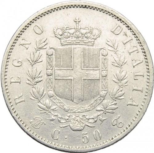 50 centesimi 1861 1862 italia km 4 catalogo for Moneta 50 centesimi