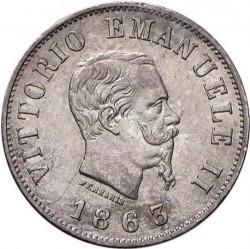 Монета > 50чентезимо, 1863 - Італія  (Щит на реверсі) - obverse
