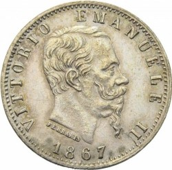Coin > 20centesimi, 1867 - Italy  - obverse