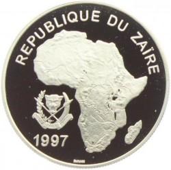 Монета > 1000заиров, 1997 - Заир  (Чемпионат мира по футболу 1998) - obverse
