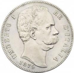 Moneta > 5liros, 1878-1879 - Italija  - obverse